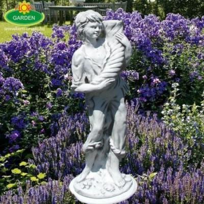 Fiú kerti szobor bőség...