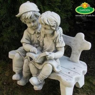Kerti szobor pados gyerekek