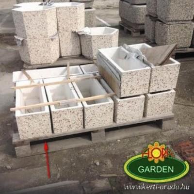 Fehérköves beton virágvályú