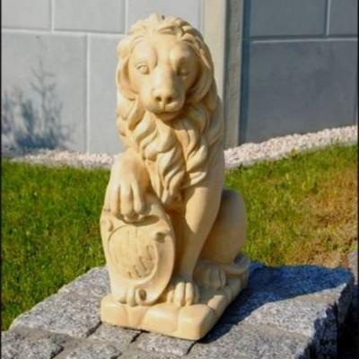 Kő oroszlán dísz szobor