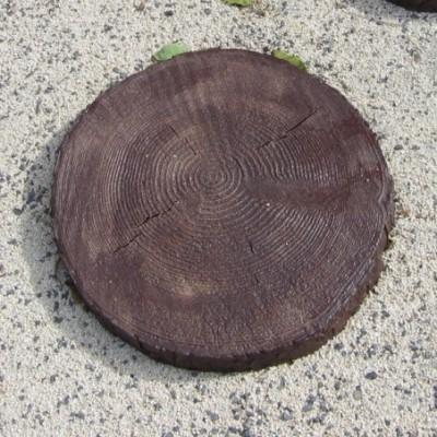 Tipegő korongok fa mintázattal