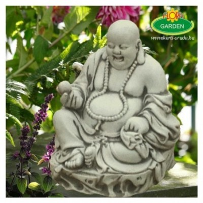 Rózsafüzérrel nevető Buddha...