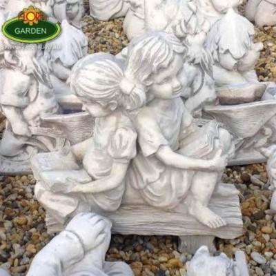 Kerti pad gyerekekkel szobor