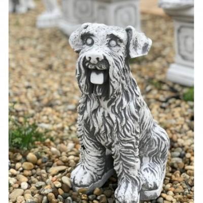 Foxterrier kutya szobor