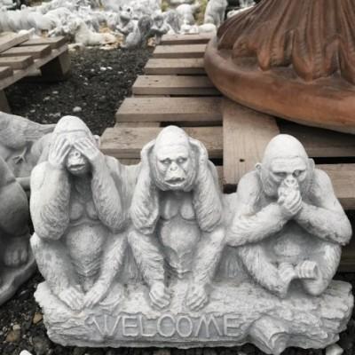 Üdvözlő tábla Welcome majmok