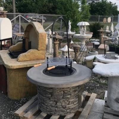 Kerti sütő betonelemekből