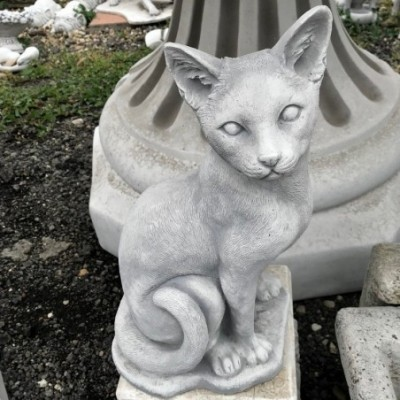 Chausie macska szobor