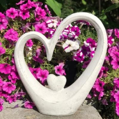 Évfordulós ajándék szív kőből