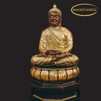 Buddha díszes talapzattal
