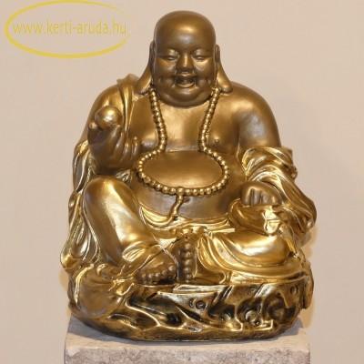 Buddha szobor rózsafüzérrel