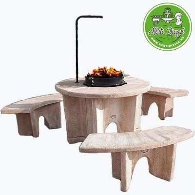 modern kerti kő grill