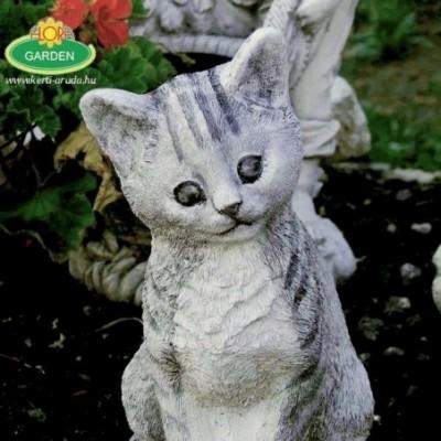 Macska kerti dísz kerti...